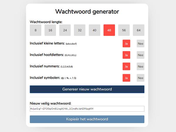 Wachtwoord generator